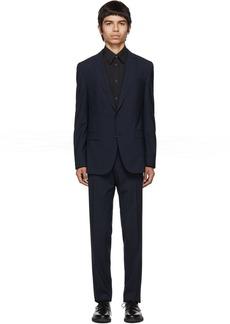 Hugo Boss Blue Virgin Novan Ben Check Suit