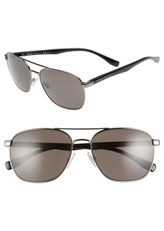 Hugo Boss BOSS '0701/S' 57mm Aviator Sunglasses