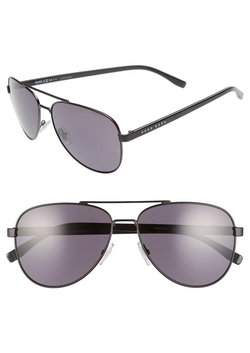 c0e66751bfd Hugo Boss BOSS  0761 S  60mm Polarized Aviator Sunglasses