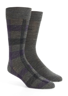 Hugo Boss BOSS 2-Pack Check Socks
