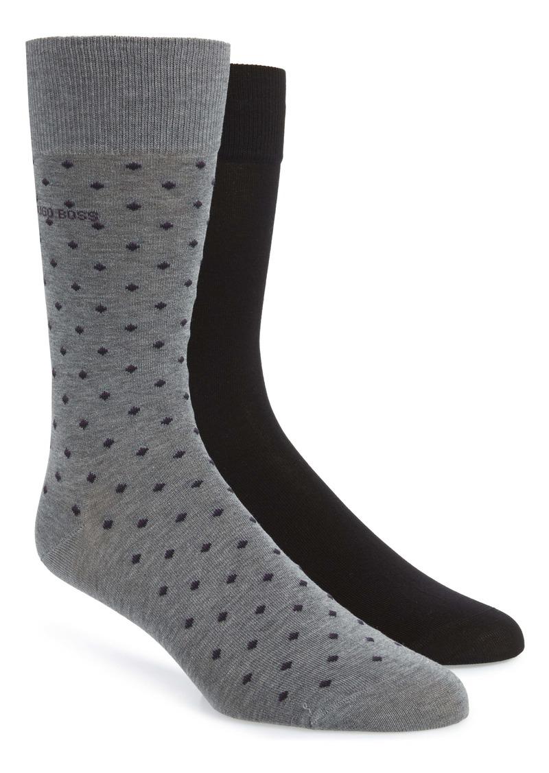 Hugo Boss BOSS 2-Pack Dot Socks