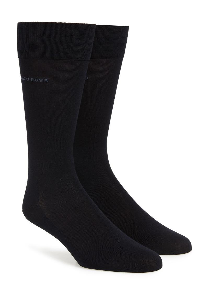 Hugo Boss BOSS 2-Pack Solid Dress Socks