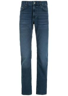 Hugo Boss logo-patch straight-leg jeans