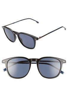 Hugo Boss BOSS 51mm Polarized Gradient Round Sunglasses