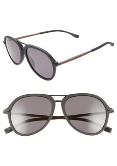 Hugo Boss BOSS 55mm Polarized Aviator Sunglasses