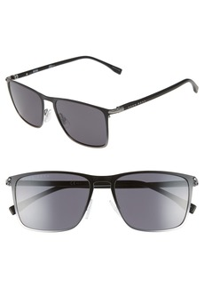 Hugo Boss BOSS 56mm Rectangular Sunglasses