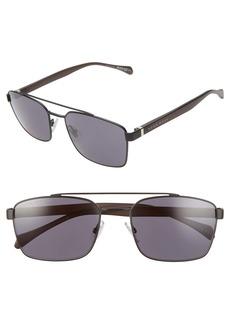 Hugo Boss BOSS 57mm Aviator Sunglasses