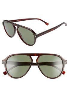 Hugo Boss BOSS 57mm Flat Top Sunglasses