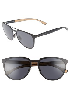 Hugo Boss BOSS 57mm Navigator Sunglasses