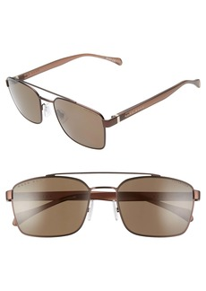 Hugo Boss BOSS 57mm Polarized Aviator Sunglasses
