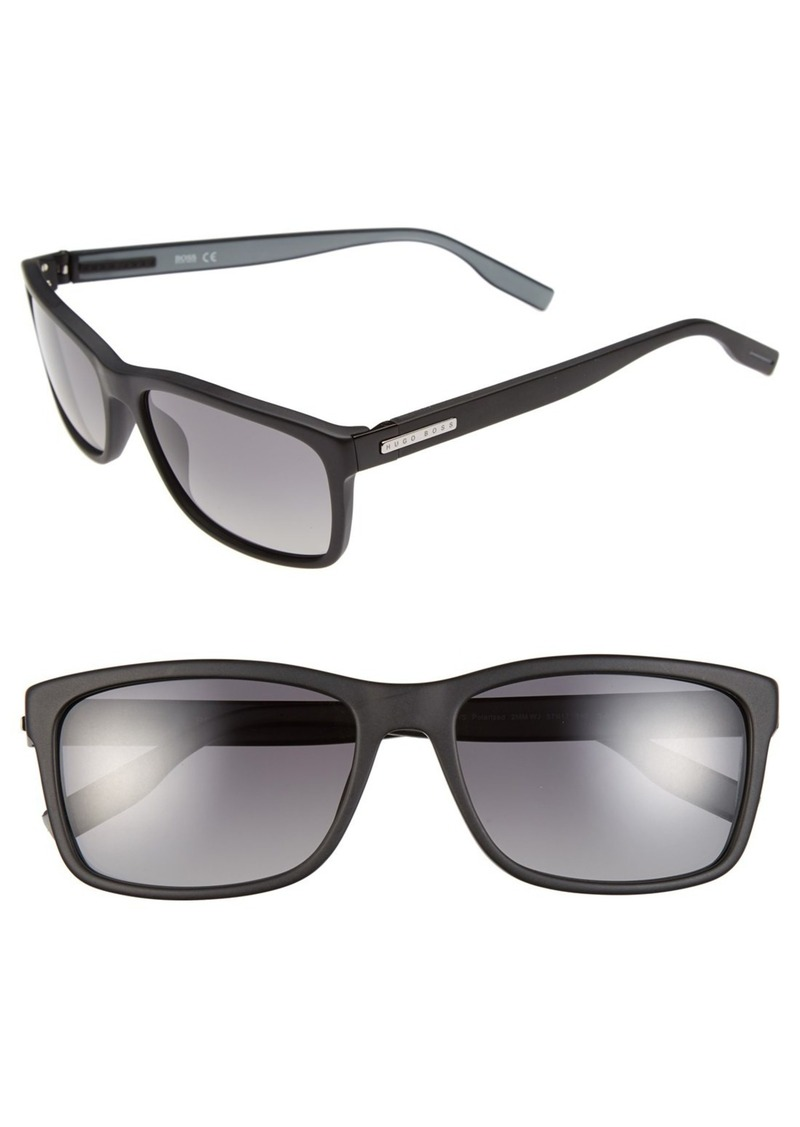 Hugo Boss BOSS 57mm Polarized Retro Sunglasses