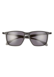 Hugo Boss BOSS 57mm Rectangle Retro Sunglasses