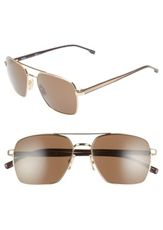 Hugo Boss BOSS 58mm Navigator Sunglasses