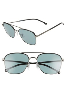 Hugo Boss BOSS 58mm Polarized Aviator Sunglasses