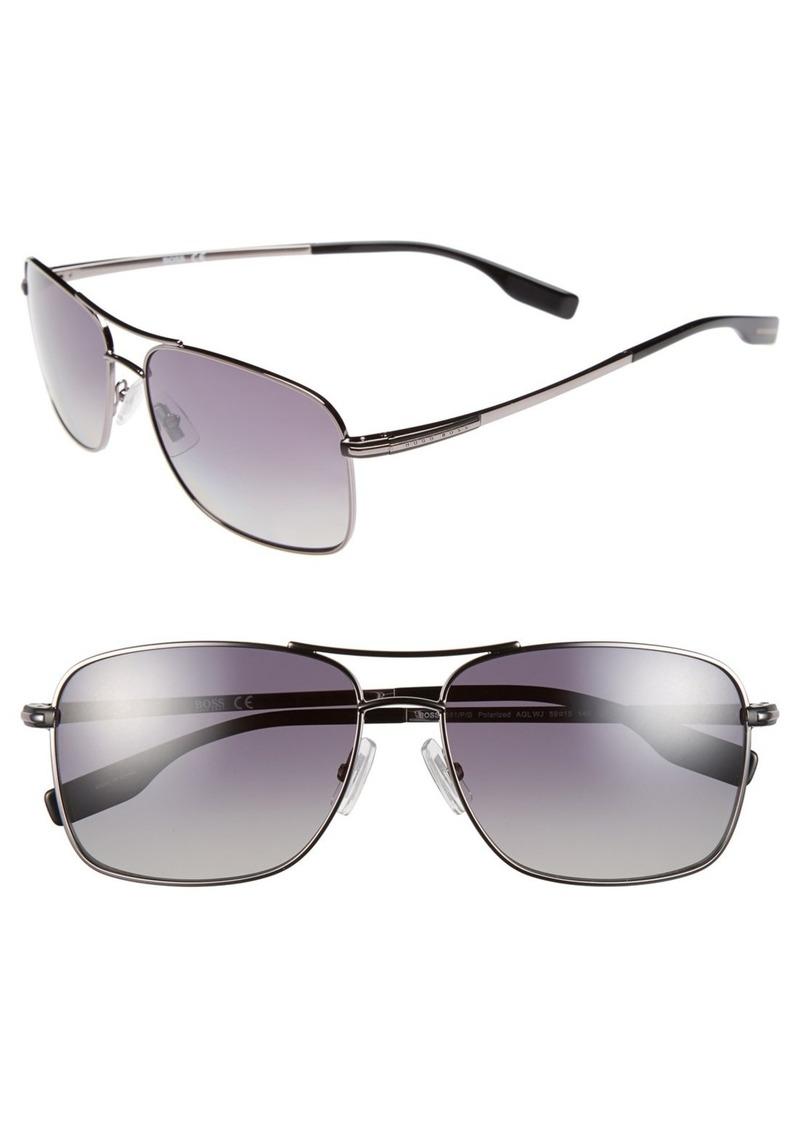 Hugo Boss BOSS 59mm Polarized Navigator Sunglasses