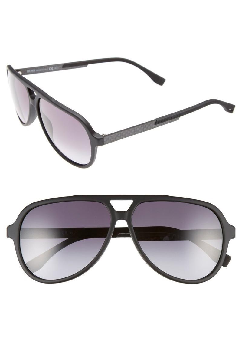 Hugo Boss BOSS 60mm Aviator Sunglasses