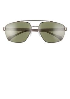 Hugo Boss BOSS 61mm Polarized Aviator Sunglasses