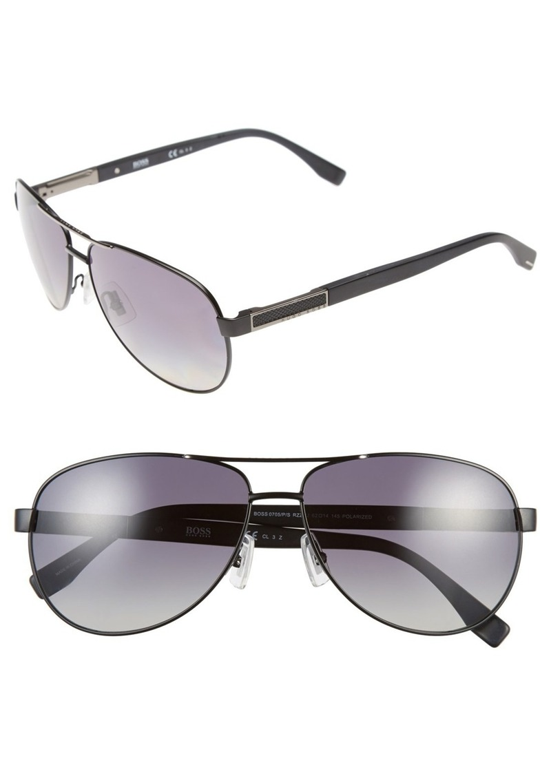 318e05be9a8 Hugo Boss BOSS 62mm Polarized Aviator Sunglasses
