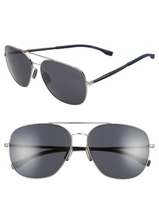 Hugo Boss BOSS 62mm Polarized Special Fit Aviator Sunglasses
