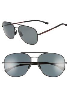 Hugo Boss BOSS 62mm Polarized Special Fit Aviator Sunglasses