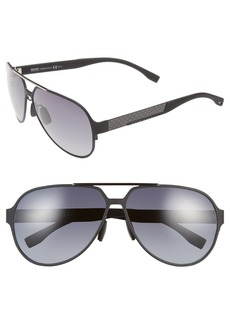 Hugo Boss BOSS 63mm Aviator Sunglasses