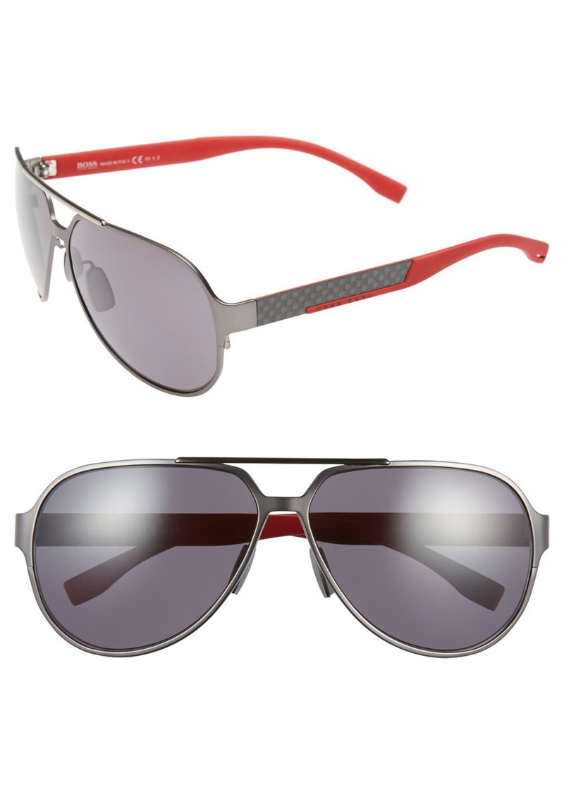 c3f5c6904de Hugo Boss BOSS 63mm Polarized Aviator Sunglasses