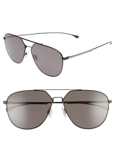 Hugo Boss BOSS 63mm Polarized Aviator Sunglasses