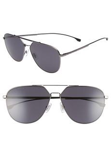 Hugo Boss BOSS 63mm Polarized Aviator Sunglasses