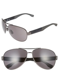 Hugo Boss BOSS 65mm Aviator Sunglasses