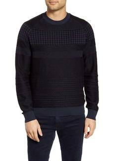 Hugo Boss BOSS Arkamoro Stripe Cotton Blend Crewneck Sweater