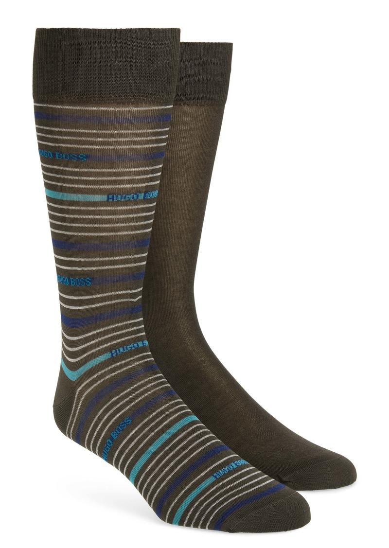 Hugo Boss BOSS Assorted 2-Pack Dress Socks