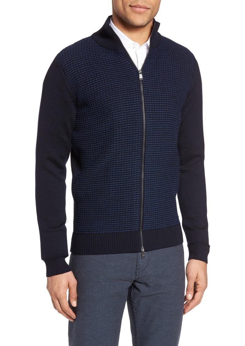 4a899d21e Hugo Boss BOSS Bacco Full Zip Wool Sweater Jacket