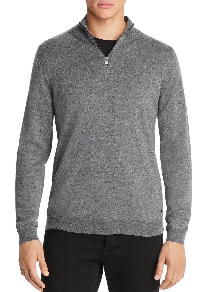11c451ce2 BOSS Banello Quarter-Zip Virgin Wool Sweater - 100% Exclusive. Hugo Boss