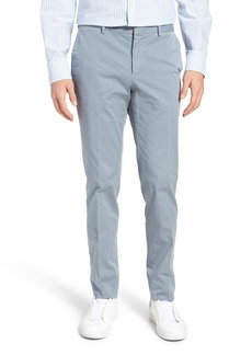 Hugo Boss BOSS Barlow-D Flat Front Stretch Solid Cotton Trousers