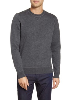 Hugo Boss BOSS Bassi Regular Fit Wool & Cotton Crewneck Sweatshirt