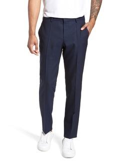Hugo Boss Nordstrom x BOSS Ben Flat Front Solid Wool Trousers