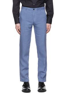 Hugo Boss Boss Blue Linen Crigan 3-D Trousers