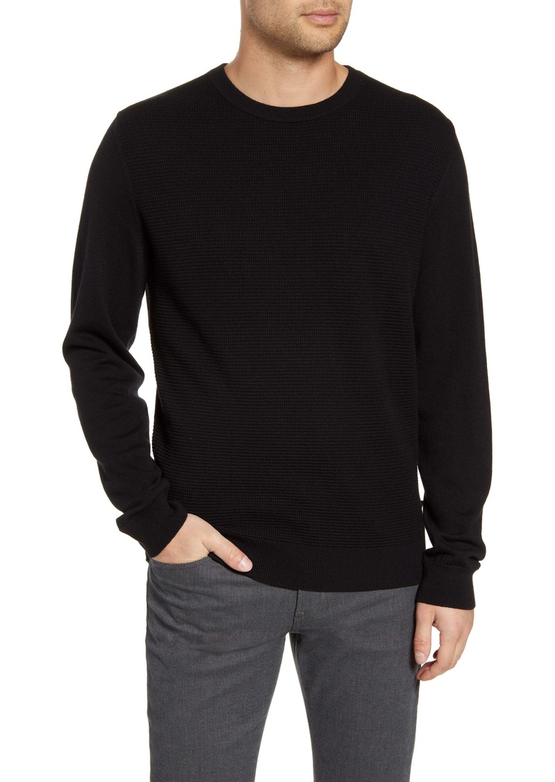 Hugo Boss BOSS Bospan Textured Crewneck Sweater