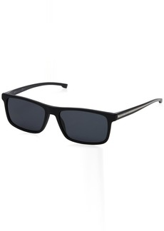 BOSS by Hugo Boss Men's 0920/s Polarized Rectangular Sunglasses  54 mm