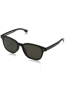 BOSS by Hugo Boss Men's 0936/s Oval Sunglasses MTT Black 53 mm