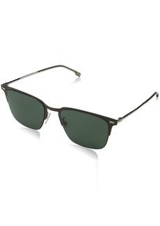 BOSS by Hugo Boss Men's Boss 0951/f/s Square Sunglasses MTT Brown 56 mm