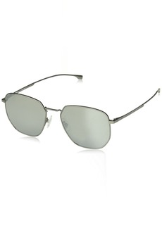 BOSS by Hugo Boss Men's 0992/f/s Oval Sunglasses MATT Grey 58 mm