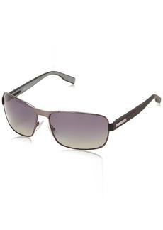 Boss By Hugo Boss Men's B0579PS Rectangular Polarized Sunglasses