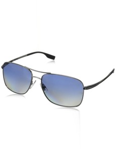 Boss By Hugo Boss Men's B0581PS Rectangular Polarized Sunglasses