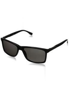 BOSS by Hugo Boss Men's B0704PS Polarized Rectangular Sunglasses