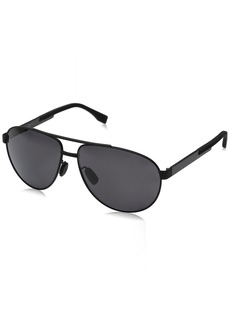 BOSS by Hugo Boss Men's B0752fs Polarized Aviator Sunglasses