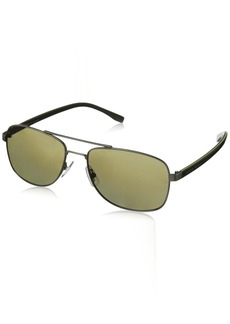 BOSS by Hugo Boss Men's B0762s Polarized Rectangular Sunglasses
