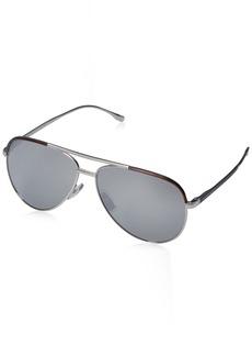 BOSS by Hugo Boss Men's B0782s Aviator Sunglasses  60 mm