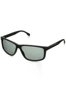 BOSS by Hugo Boss Men's B0833s Rectangular Sunglasses  60 mm