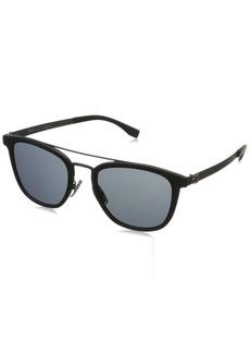 BOSS by Hugo Boss Men's B0838s Square Sunglasses  52 mm